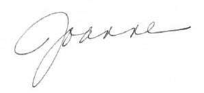 joanne's signature