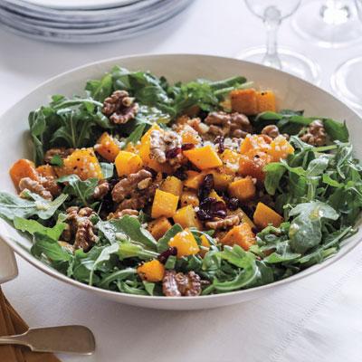 Warm Kale and Squash Salad