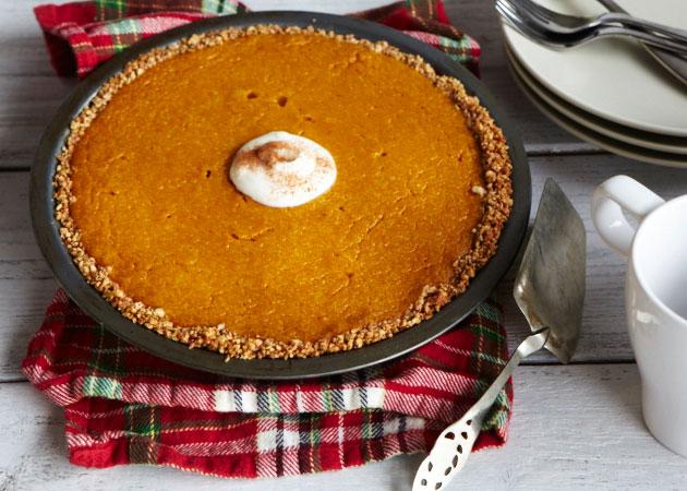 Pumpkin Pie with Pumpkin Seed Crust