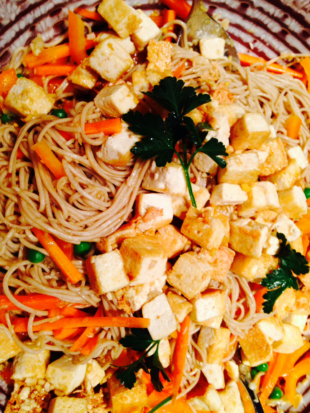 Teriyaki Tofu and Veggies with Soba Noodles