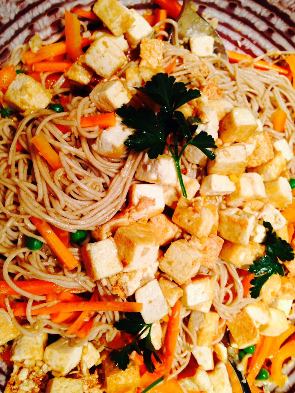 Teriyaki Tofu and Veggies with Soba Noodles
