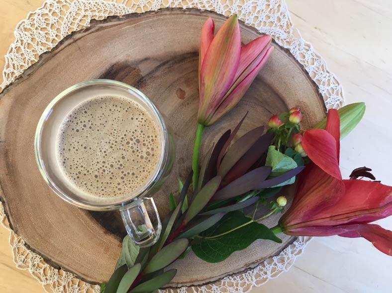 Creamy Coffee (or Cacao) Mushroom Latte