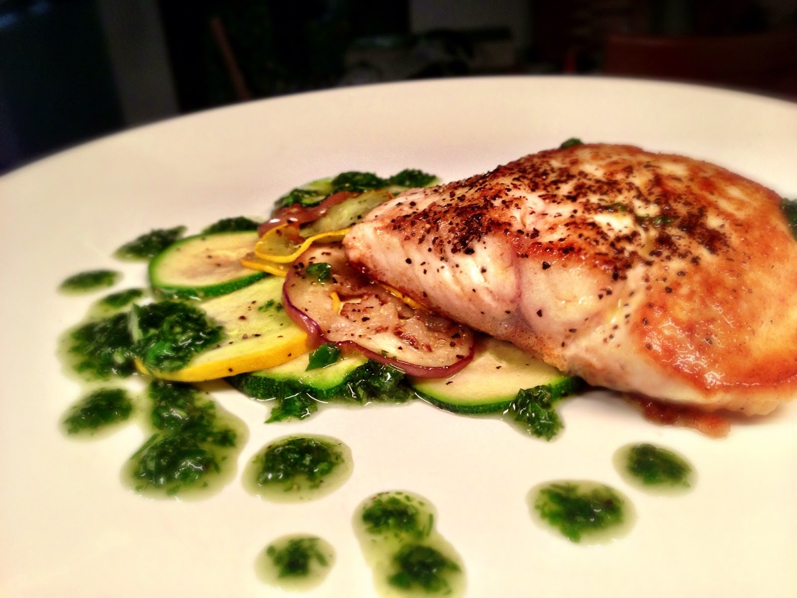 Red Snapper with Basil Sauce