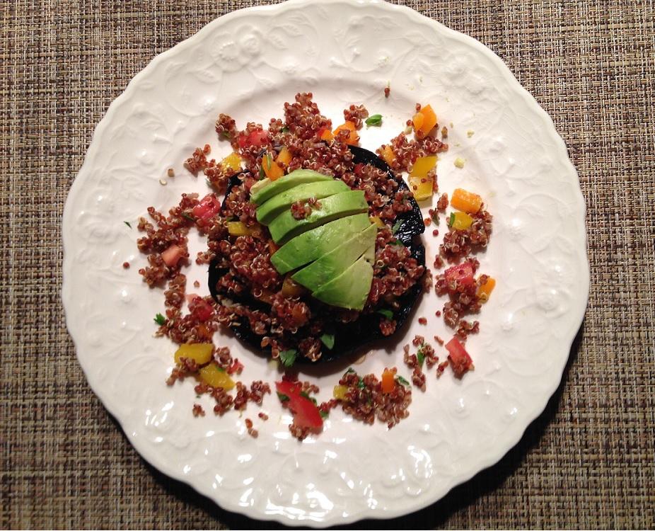 Quinoa Topped Portobello