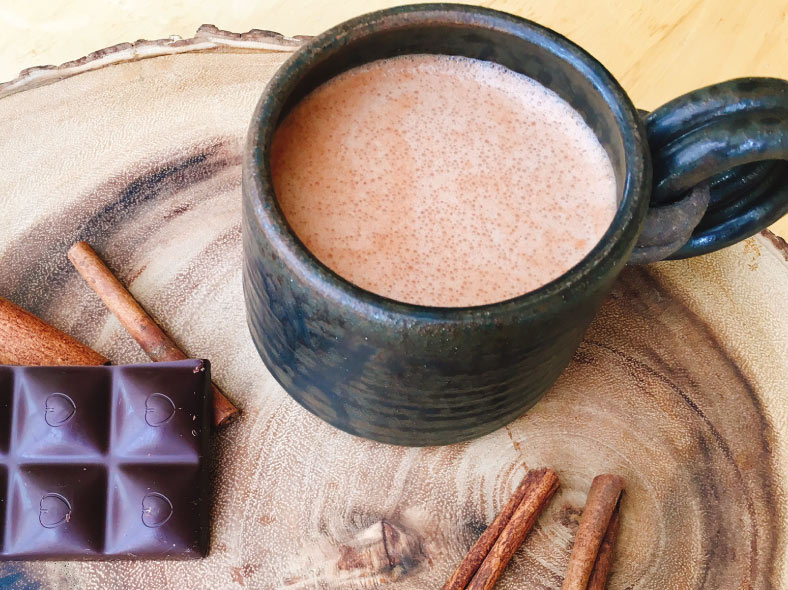 healthy hot chocolate - Nourished Body and mind