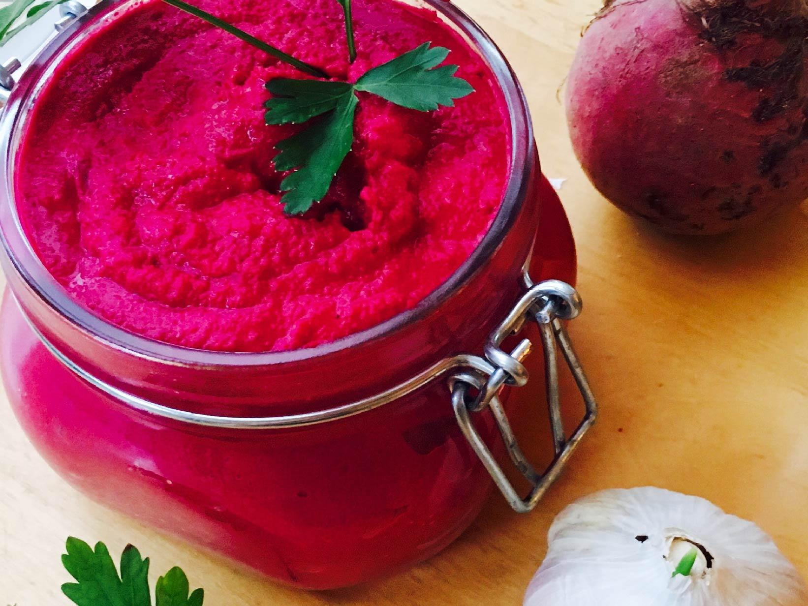 Roasted Beet Hummus_Nourished Body and Mind_ Joanne Schneider