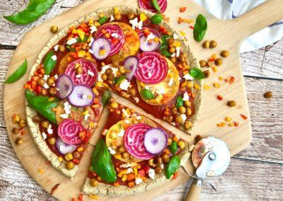 Vegan Confetti Pizza with Gluten-Free Chaga Crust