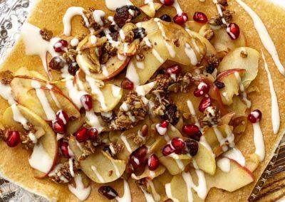 Coconut Caramelized Cinnamon Apple Wraps