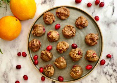 Cranberry Orange Muffin Bites