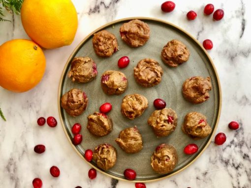 Cranberry Orange Muffin Bites