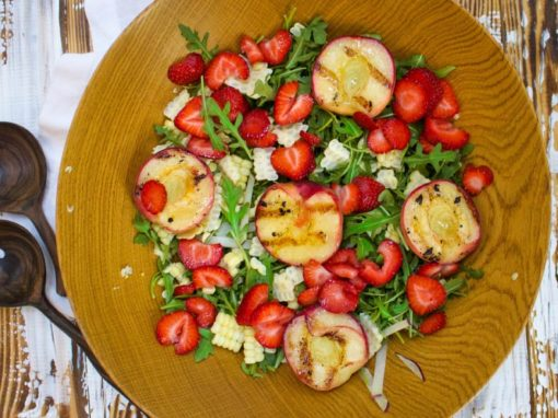 Summer Salad with Grilled Peaches