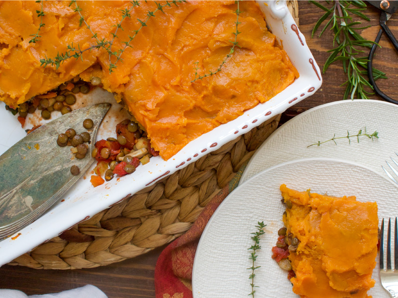 Sweet Potato Topped Shepard's Pie