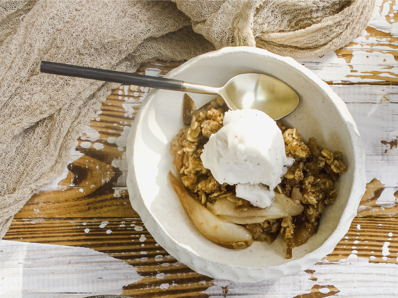 Ginger Pear Crisp